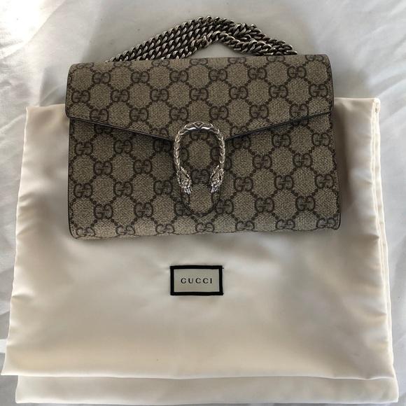 69268762e3d Gucci Handbags - Gucci Dionysus GG Supreme Mini Chain Bag